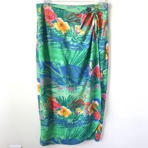 Jams World XL Wrap Skirt Sarong Tropical Print